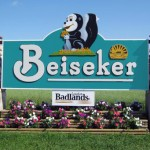 Beiseker Hi Way sign